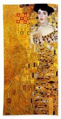 Portrait Of Adele Bloch-bauer Beach Sheet by Gustav Klimt