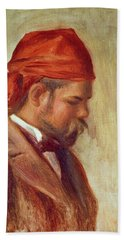 Portrait Of Ambroise Vollard 1868-1939 Oil On Panel Beach Towel