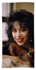 Portrait Of Ofra Haza Beach Towel