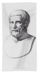 Portrait Of Pythagoras Beach Towel