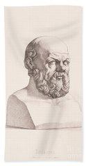 Portrait Of Socrates Beach Towel