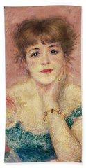 Portrait Of The Actress Jeanne Samary, 1877 Study Beach Towel