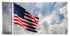 Portrait Of The United States Of America Flag Beach Sheet
