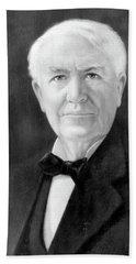 Portrait Of Thomas A. Edison As Senior Beach Towel