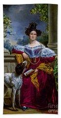 Portret Van Alida Christina Assink 1833 Beach Towel
