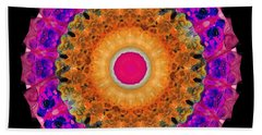 Positive Energy 1 - Mandala Art By Sharon Cummings Beach Towel