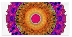 Positive Energy 2 - Mandala Art By Sharon Cummings Beach Towel