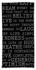 Positive Words Beach Sheet
