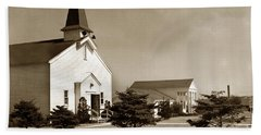 Post Chapel And Red Cross Building Fort Ord Army Base California 1950 Beach Towel