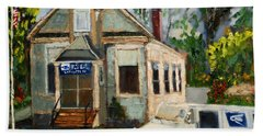 Post Office At Lafeyette Nj Beach Towel