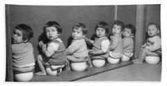 Post-war Japanese Orphanage Beach Towel