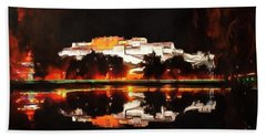 Potala Palace Night View Beach Sheet