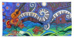 Power Of Music II  Beach Towel by Genevieve Esson