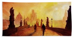Prague Sunrise Beach Towel