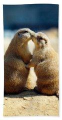 Prairie Dogs Kissing Beach Towel