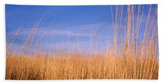Prairie Grass, Blue Sky, Marion County Beach Towel
