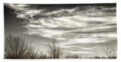 Prairie Winter Sky Beach Towel