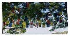 Prayer Flags, Upper Dharamsala Beach Towel