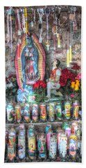 Prayers To Our Lady Of Guadalupe Beach Towel by Lanita Williams