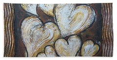 Precious Hearts 301110 Beach Towel by Selena Boron