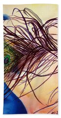 Preening For Attention Sold Beach Towel