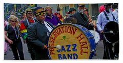 New Orleans Jazz Band  Beach Towel by Luana K Perez