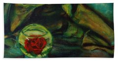 Preserved Rose . . Draped Canvas Beach Towel by Sean Connolly