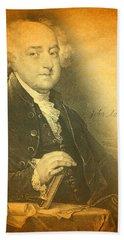 President John Adams Portrait And Signature Beach Towel