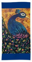 Beach Towel featuring the painting Pretty Boy by Megan Walsh