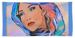 Pretty Lady Beach Towel