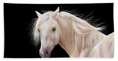Pretty Palomino Pony Painting Beach Sheet