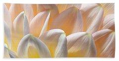 Pretty Pastel Petal Patterns Beach Towel by Kaye Menner