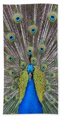 Pretty Peacock Beach Towel