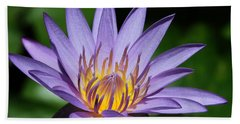 Pretty Purple Petals Beach Towel