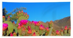 Prickly Pear Blooming Beach Towel