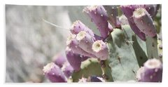 Prickly Pear Cacti Beach Towel by Andrea Hazel Ihlefeld