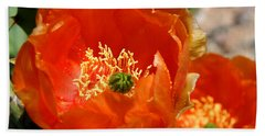 Prickly Pear In Bloom Beach Towel