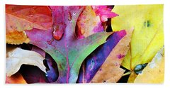 Beach Sheet featuring the photograph Primary Colors Of Fall by Judy Palkimas