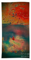 Beach Towel featuring the painting Primordial by Jacqueline McReynolds