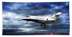 Airplanes Beach Towel featuring the photograph Private Business by Aaron Berg