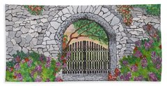 Private Garden At Sunset Beach Towel