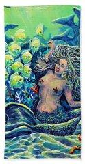 Proper Schooling Beach Towel by Gail Butler