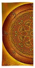 Prosperity Mandala - Mandala Art  By Giada Rossi Beach Towel by Giada Rossi