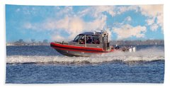 Protecting Our Waters - Coast Guard Beach Towel by Kim Hojnacki