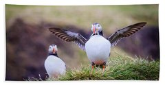 Proud Puffin Beach Towel