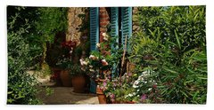 Provencal Alley Beach Towel