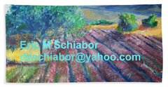 Provence Lavender Field Beach Sheet