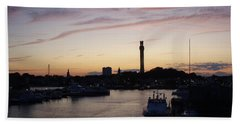 Provincetown Sunset Beach Towel by Robert Nickologianis