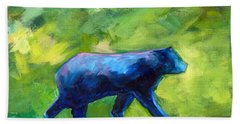 Prowling Beach Towel by Nancy Merkle