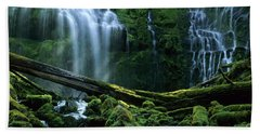 Proxy Falls Beach Towel by Bob Christopher